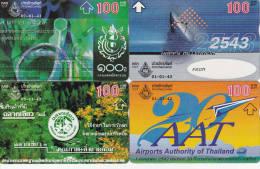 4 Télécartes Magnétiques THAILANDE Lot1 (bon état) - Tailandia