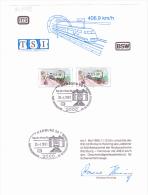 26.4.1991 -  Gedenkblatt  Mit Sonderstempel  -  ICE  -Tag Der Offenen Tür -  Siehe Scan  (de 9479) - Storia Postale