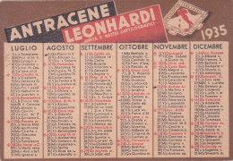 CALENDARIETTO  DOPPIO PUBBLICITARIO COLLAMIDINA LEONHARDI (CONSUMATE PRODOTTI ITALIANI)     1935 -2-882-17586-585 - Calendars