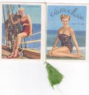 "CALENDARIETTO""STELLE MARINE"" DIVE DEL CINEMA AL MARE      1955 -2-882-17588-587 - Tamaño Pequeño : 1941-60"