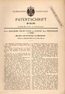 Original Patentschrift - Prinz Alexander Thurn - Taxis Und R. Graf Westphalen In Wien , 1884 , Masichine Zum Stricken !! - Maschinen