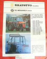 Cabine BNT BRATSTVO Pucarevo (Bosnia) FIAT DAJC ~ TAM Camion Truck, IMT UNIVERSAL Tractor Tracteur Excavator Caterpillar - Tractors