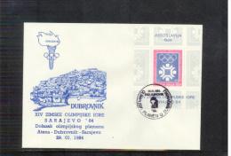 Jugoslawien / Yugoslavia 1984 Olympic Games Sarajevo Olympic Torch / Olimpische Fackellauf Dubrovnik - Winter 1984: Sarajevo