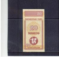 MONGOLEI ,  MONGOLIA     ,    20 Mongo   ,  ( 1993 )  ,    Pick#50 - Mongolei