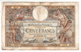 Billet - 100 Francs Merson - DL.2.12.1937 - S.56087 - 1871-1952 Anciens Francs Circulés Au XXème