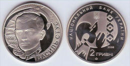 """Ukraine 2 Hryvnias 2008 """"Vasyl Stus"""" UNC - Ukraine"""