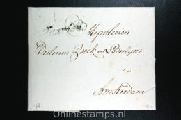 Nederland: Complete Brief Haarlem Naar Amsterdam, Haarlem Zwart Cursief 1781 - Nederland