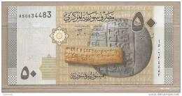 Siria - Banconota Non Circolata Da 50 Sterline - 2009 - Siria