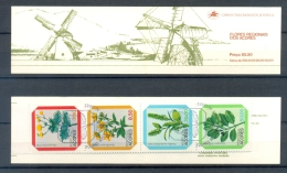 PORTUGAL / ACORES * BOOKLET / CARNET 4v 1981 *  WILD FLOWERS * FLORA * 1st DAY CANCEL - Azores