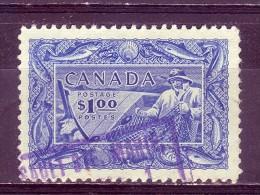 FISHING-FISHERMAN-1 $-CANADA-1951 - 1937-1952 Reign Of George VI