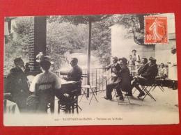 Cpa 38 ALLEVARD LES BAINS Terrasse Sur Le Bréda Hotel Restaurant 449 - Allevard
