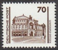 EAST GERMANY DDR GDR 1990 MNH STAMP - SEMPER OPERA HOUSE DRESDEN - Mi 3348, SG E3044 - Musique