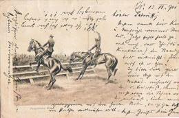 AK PFERDE HORSES  Reiten Und Springen OLD POSTCARD 1901 - Pferde