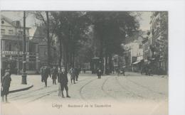 CP Liège Boulevard De La Sauvenière Tram Vers 1905 Hoffmann Colorisé - Lüttich