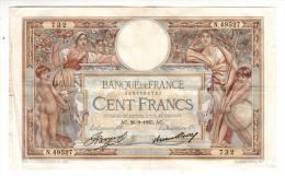 Billet - 100 Francs Merson -  AC.26.9.1935 - N.49527 - 1871-1952 Antichi Franchi Circolanti Nel XX Secolo