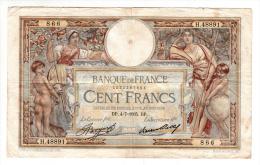 Billet - 100 Francs Merson -  DP.4.7.1935 - H.48891 - 100 F 1908-1939 ''Luc Olivier Merson''