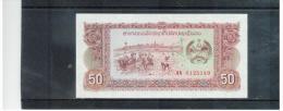 LAOS   ,  ( 1979 )   ,     50  Kip   ,     Pick# 29    ,   Unc - Laos