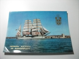 QLS CARTOLINA  NAVE SHIP VELIERO SAGRES LISBOA  PORTOGALLO - CB
