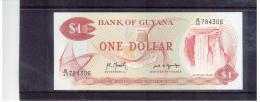 GUYANA   ,   (1966 -  )   ,  1 Dollar   ,   Prefix B/40    ,    Sign. ?   Pick 21    ,     Unc - Guyana