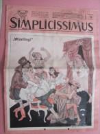 SIMPLICISSIMUS  MUNCHEN 16 JULI 1966 REVUE POLILITIK SATIRIK DEUTSCHLAND  WUSTLING >>PHOTOS >>> - Revistas & Periódicos