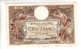 Billet - 100 Francs Merson -  KK.14.12.1933 - T.42262 - 1871-1952 Antichi Franchi Circolanti Nel XX Secolo