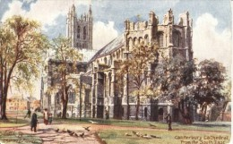 Charles Flower - Canterbury Cathedral In Kent  (from The South East)  -   7021 - Tuck, Raphael