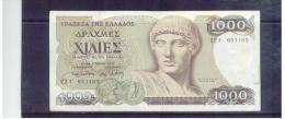 GRIECHENLAND  ,  GREECE  ,   1000 Drachmai  ,  1.7.1987  ,  Pick#202  ,   Circ - Griechenland