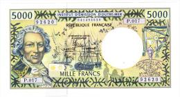 Polynésie Française / Tahiti - 5000 F CFP - Alphabet P.017 / 2013 / Signatures Barroux / Noyer / Besse - Neuf / UNC - Papeete (Polynésie Française 1914-1985)
