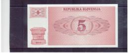 SLOWENIEN  ,  SLOVENIA  ,  5  Pet Tolarjev  ,  1990  ,     Pick#3    ,  Unc - Slowenien