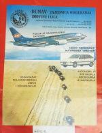 JAT  YUGOSLAV AIRLINES / Yugosalvia Air Lines Transport Company - DUNAV Personal - Property Insurance, Combine Harvester - Publicités