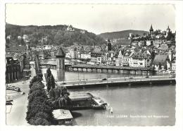 Cp, Suisse, Luzern, Kapellbrücken Mit Wasserturm, Voyagée 1965 - LU Lucerne