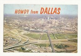 Cp, Etats-Unis, Dallas, Aerial View Of Big D, Voyagée 1963 - Dallas