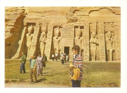 Cp, Egypte, The Temple Of ABu-Sembel, Voyagée - Autres
