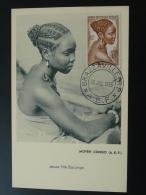 Carte Maximum Maximum Card Jeune Fille Coiffe Brazzaville AEF 1955 - Brieven En Documenten