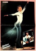 Kleines Poster  -  Norbert Schramm  -  Rückseite : Pinguine - Von Pop-Rocky Ca. 1981 - Eiskunstlauf