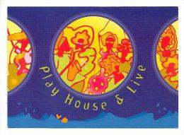 Carte Publicitaire - Play House & Live - Musique - Péniche Le Boer 2  Paris - Musique Et Musiciens