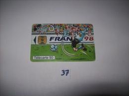 FOOTBALL - FRANCE 98 World Cup  - Telecarte France 50 Unités - Voir Photo (37) - Sport
