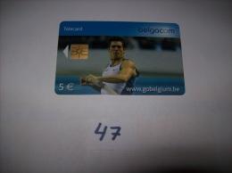 SAUT A LA PERCHE  - Telecarte Belgique 5 Euros- Voir Photo (47) - Sport