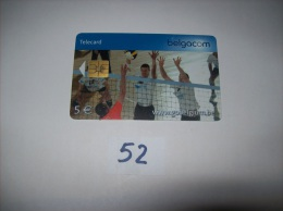 VOLLEY BALL  - Telecarte Belgique 5 Euros- Voir Photo (52) - Sport