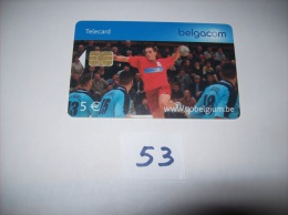 HAND  BALL  - Telecarte Belgique 5 Euros- Voir Photo (53) - Sport