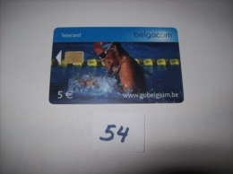 NATATION   - Telecarte Belgique 5 Euros- Voir Photo (54) - Sport