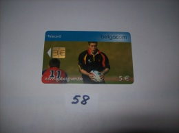 RUGBY  - Telecarte Belgique 5 Euros- Voir Photo (58) - Sport