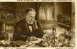 CPA OFFERTE PAR L'URODONAL...CENTENAIRE DE PASTEUR...BIOGRAPHIE DE PASTEUR AU DOS - Werbepostkarten