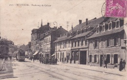 Fubourg De Colmar Avec Trolley Bus Et Militaires , Commerces - Mulhouse