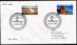 "ANTARCTIC , AAT, 29.11.1989, 2 Clear Markings "" LAW BASE "" !! - Brieven En Documenten"