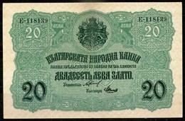 Bulgaria 20 Leva Srebro (ND)1916,P.18,Chakalov & Venkov,as Scan - Bulgarie