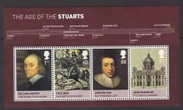 GB ~ Kings & Queens Age Of Stuarts ~ Miniature Sheet ~ 2010 ~ MNH - Fogli Completi