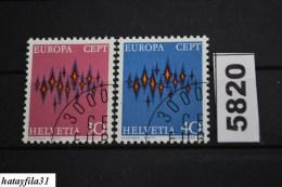 """Schweiz  1972  """" CEPT """"    Mi. 969 - 970    Gestempelt - Europa-CEPT"""