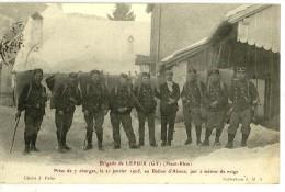 Brigade De LEPUIX (GY) (68) Prise De 7 Charges Le 21/01/1905, Ballon D'Alsace, 2m De Neige - - Altri Comuni