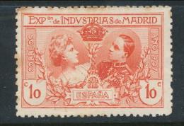 Spain 1907 Edifil # SR 1. Exposicion De Industrias De Madrid, MNH (**) - 1889-1931 Reino: Alfonso XIII